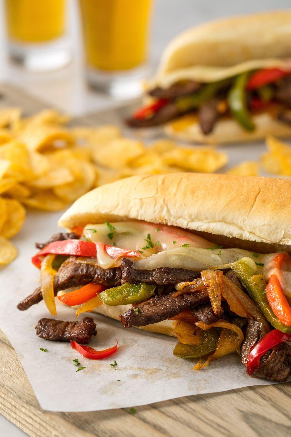 """<p>No trip to Philly required.</p><p>Get the recipe from <a href=""""https://www.delish.com/cooking/recipe-ideas/recipes/a54006/easy-homemade-philly-cheesesteak-recipe/"""" rel=""""nofollow noopener"""" target=""""_blank"""" data-ylk=""""slk:Delish"""" class=""""link rapid-noclick-resp"""">Delish</a>.</p>"""