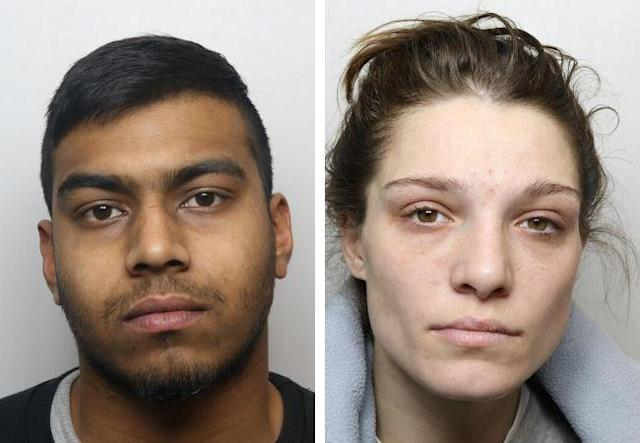 Mohammed Hussain, left, and Yazmin Ali, right, have been jailed for a total of 25 years. (SWNS)