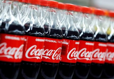 FILE PHOTO: Plastic bottles of Coca-Cola at a Carrefour Hypermarket store in Montreuil, near Paris