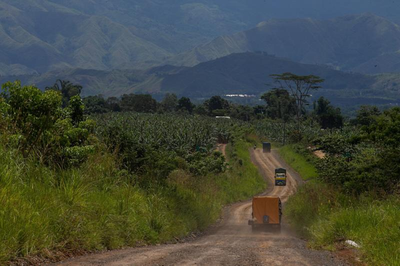 A Dole banana plantation in the Filipino village of San Jose, Impasugong town in Bukidnon province Mindanao. Global Witness investigators allege the land was illegally seized from the people living on it and leased to the food production giant. (Photo: Global Witness / Jeoffrey Maitem)