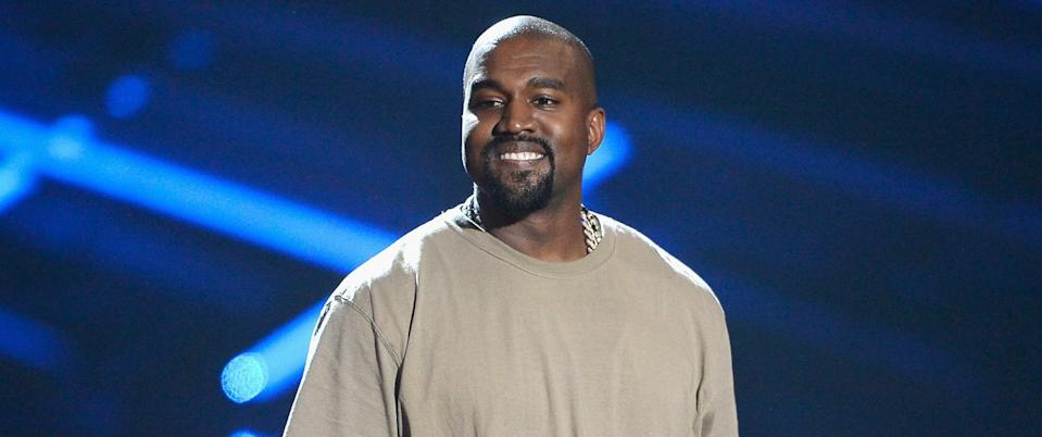 LOS ANGELES, CA - AUGUST 30:  Vanguard Award winner Kanye West speaks onstage during the 2015 MTV Video Music Awards at Microsoft Theater on August 30, 2015 in Los Angeles, California.