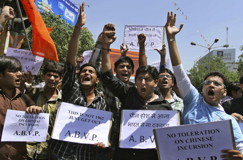 Chinese incursion leaves India on verge of crisis