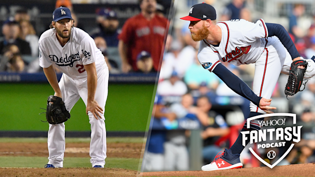 Scott Pianowski and Dalton Del Don discuss the injuries to Clayton Kershaw (L), Mike Foltynewicz (R) and the problems with the starting pitcher position as a whole on this week's Yahoo Fantasy Baseball Podcast. (Getty Images)