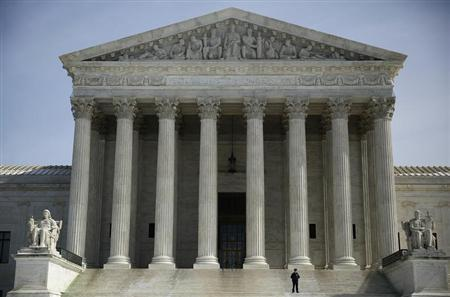 The exterior of the U.S. Supreme Court is seen in Washington