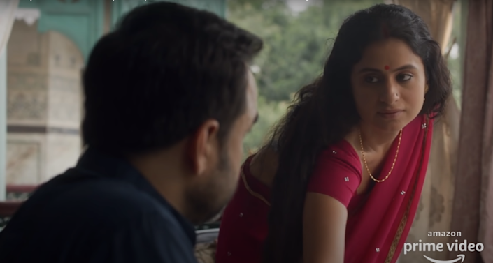 Rasika Dugal in a still from Mirzapur