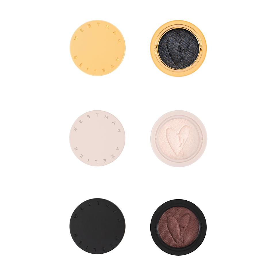 "<p>Westman Atelier's first-ever eye shadows come in super compact, stackable packaging. Thanks to the coconut oil used to hold the pigments together, the Eye Pod eye shadows strike the perfect balance between a cream and powder formula so they're super easy to apply. You can purchase one of two eye shadow trios: Les Nuits, pictured above, or Les Jours, a group of lighter neutral shades. </p> <p><strong>$88</strong> (<a href=""https://www.westman-atelier.com/products/eye-pods?variant=31762824953899"" rel=""nofollow noopener"" target=""_blank"" data-ylk=""slk:Shop Now"" class=""link rapid-noclick-resp"">Shop Now</a>)</p>"