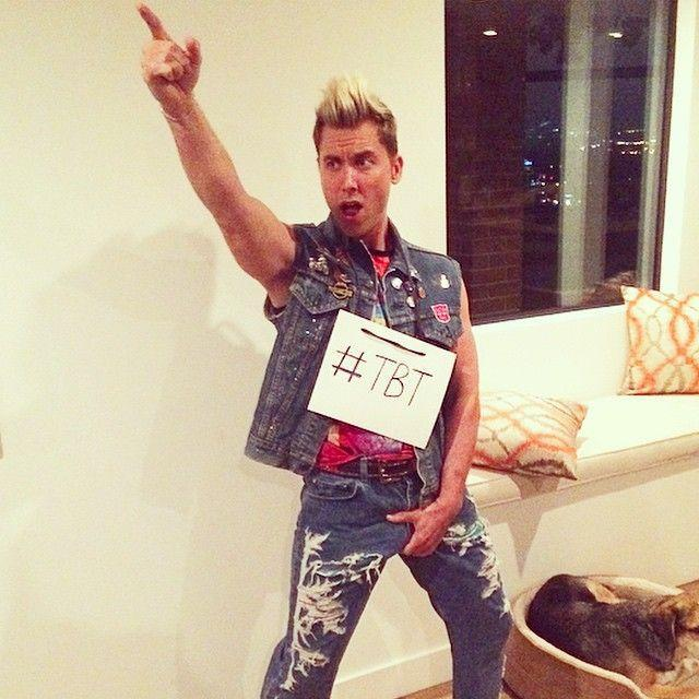 <p>It's always fun to go back to your glory days. In 2014, the *NSYNC star had frosted tips and an all-jean look as he portrayed himself from the early 2000s. </p>
