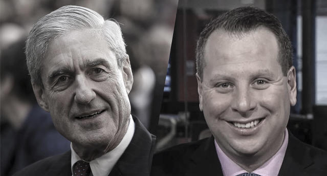 Former FBI Director Robert Mueller; former Trump campaign aide Sam Nunberg (Photos: Alex Wong/Getty Images;  Business Week/Yahoo View)