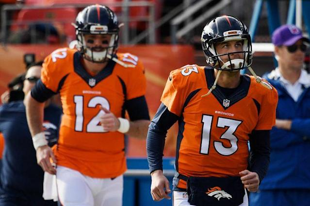 The Broncos haven't yet chosen an opening week QB. (Photo by John Leyba/The Denver Post via Getty Images)