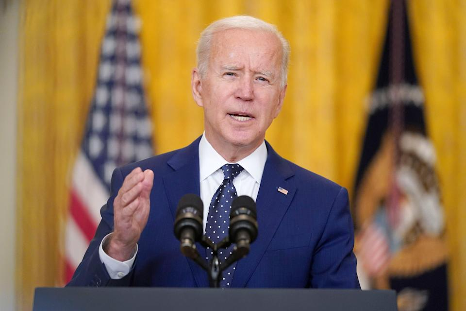 <p>President Biden is expected to set an ambitious emissions reduction target for the US</p> (AP)