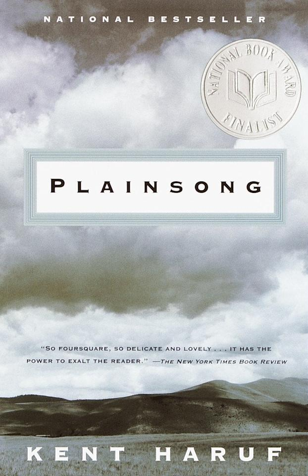"""<ul> <strong>What it's about:</strong> Set in Colorado, <strong>Plainsong</strong> follows the stories of several characters with a common thread. Through their respective struggles and experiences, you learn about the importance of family, community, and redemption.</ul> <p><a href=""""https://www.barnesandnoble.com/w/plainsong-kent-haruf/1100293779#/"""" target=""""_blank"""" class=""""ga-track"""" data-ga-category=""""Related"""" data-ga-label=""""https://www.barnesandnoble.com/w/plainsong-kent-haruf/1100293779#/"""" data-ga-action=""""In-Line Links""""><strong>Plainsong</strong> by Kent Haruf</a> ($15, originally $16)</p>"""