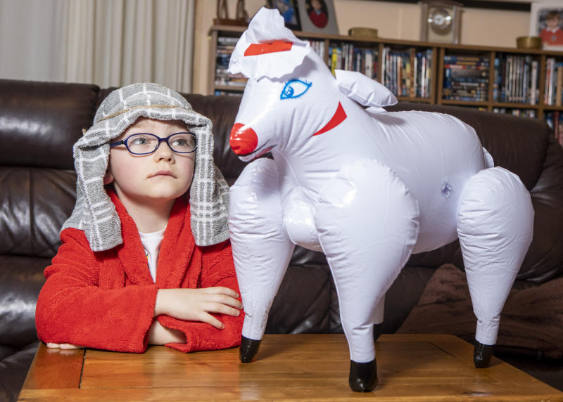 The outfit - plus sheep - cost £16.99 from Amazon (SWNS)