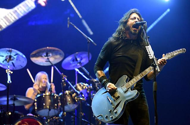 <p>The band's <em>Concrete and Gold</em> was passed over for a nom for Best Rock Album. It's their second album in a row to fail to be nominated in this category. The Foos have won four times in that category, more than anyone else. (Photo: Tim Mosenfelder/Getty Images) </p>