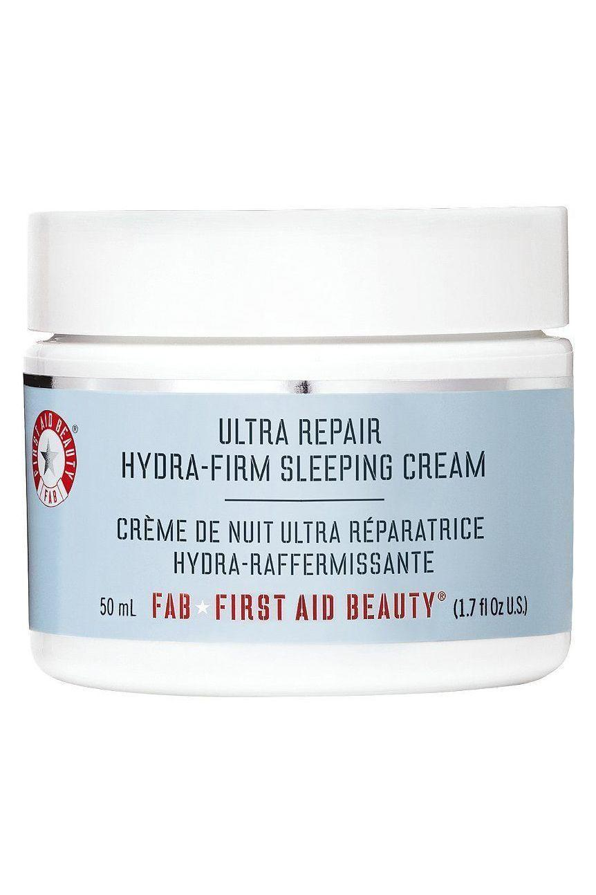 """<p><strong>First Aid Beauty</strong></p><p>sephora.com</p><p><strong>$38.00</strong></p><p><a href=""""https://go.redirectingat.com?id=74968X1596630&url=https%3A%2F%2Fwww.sephora.com%2Fproduct%2Fultra-repair-hydra-firm-sleeping-cream-P393076&sref=https%3A%2F%2Fwww.marieclaire.com%2Fbeauty%2Fg34015100%2Fanti-aging-moisturizers%2F"""" rel=""""nofollow noopener"""" target=""""_blank"""" data-ylk=""""slk:SHOP IT"""" class=""""link rapid-noclick-resp"""">SHOP IT</a></p><p>This night cream is the intense moisturizer you've been looking for for overnight hydration. With clean ingredients, this cream lifts and calms the skin for a glowing, radiant look.</p>"""