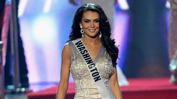 PHOTO: Miss Washington USA, Cassandra Searles, is introduced during the 2013 Miss USA pageant at PH Live at Planet Hollywood Resort & Casino, June 16, 2013, in Las Vegas. (Ethan Miller/Getty Images)