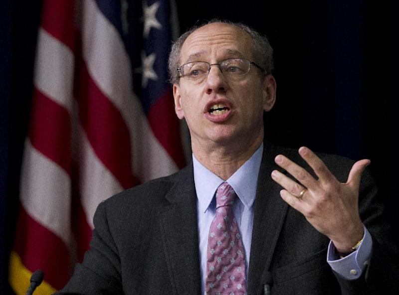 Federal Trade Commission Chairman Jon Leibowitz speaks about privacy at the Eisenhower Executive Office Building in Washington, Thursday, February 23, 2012. (AP Photo/Manuel Balce Ceneta)
