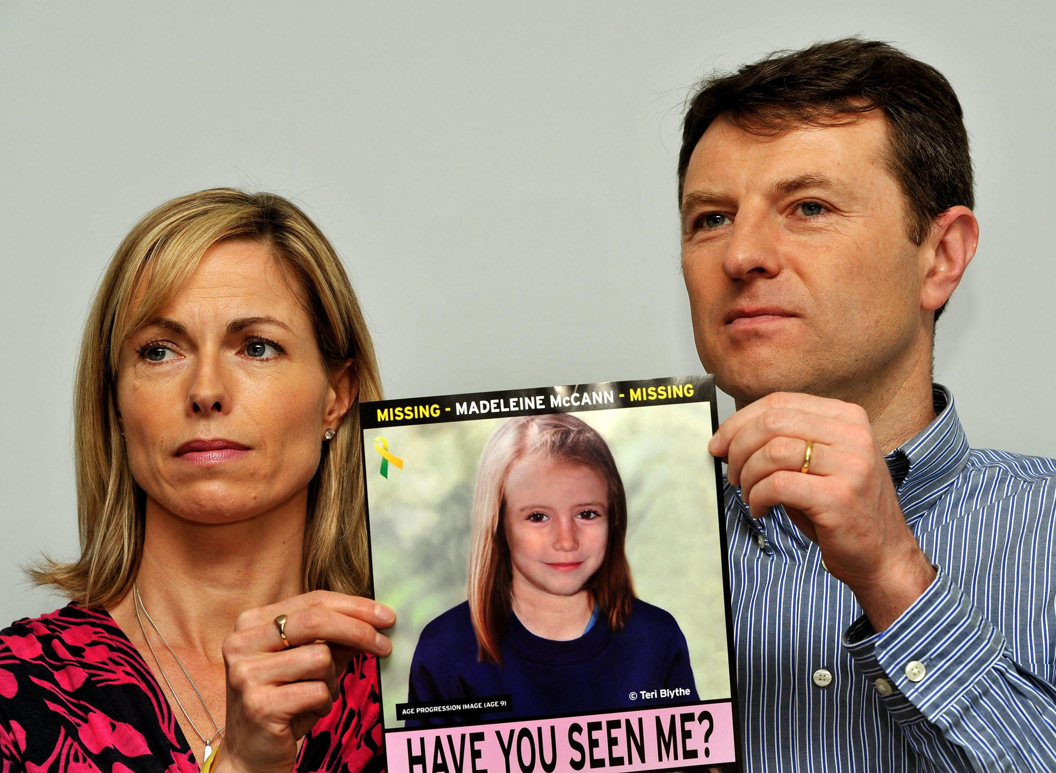 Kate and Gerry McCann haven't given up home of finding their daughter (PA)
