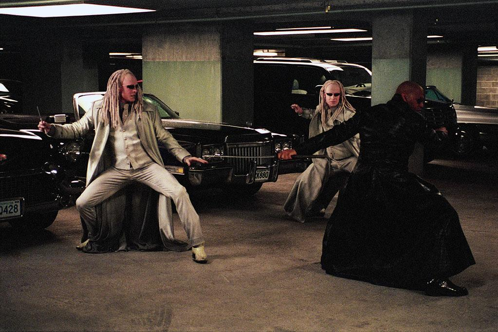 """Twin 1 (Neil Rayment) and Twin 2 (Adrian Rayment), """"The Matrix Reloaded"""" (2003)"""