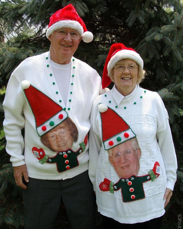 """<div class=""""caption-credit""""> Photo by: Rock Your Ugly Christmas Sweater</div>I take that back. THIS is commitment."""