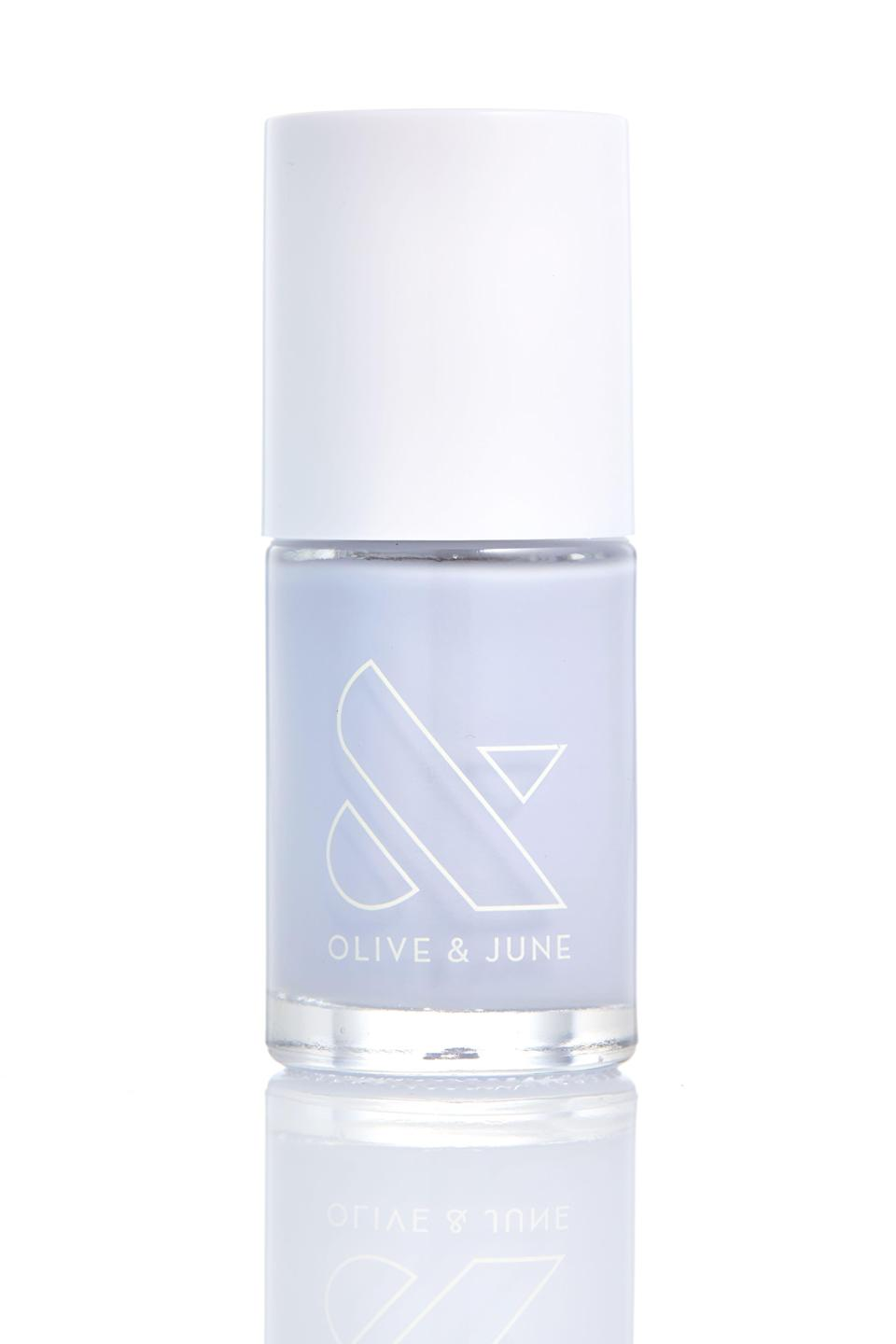 """<p>Consider this frosty hue the much cooler older sister to that crusty bottle of blue polish you've had since you still shopped at Claire's... but just can't part with because it's the <em>perfect</em> shade.</p><br><br><strong>Olive & June</strong> Nail Polish in Barrett, $8, available at <a href=""""https://olivejune.com/collections/nail-polish/products/barrett"""" rel=""""nofollow noopener"""" target=""""_blank"""" data-ylk=""""slk:Olive & June"""" class=""""link rapid-noclick-resp"""">Olive & June</a>"""