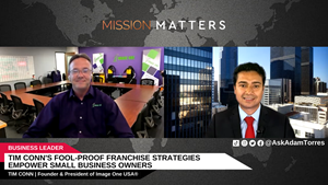 Tim Conn, Founder & President, Image One USA®, was interviewed on the Mission Matters Business Podcast by Adam Torres.