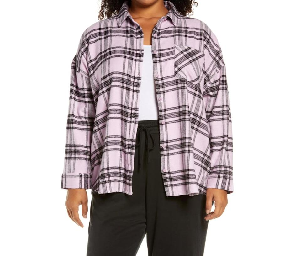 <p>In case you didn't get the memo, fall is basically synonymous with flannel shirts. While this <span>BP. Boyfriend Plaid Flannel Button-Up Shirt</span> ($49) comes in a bunch of cool colors, the light-pink hue will be a welcomed addition to your rotation.</p>
