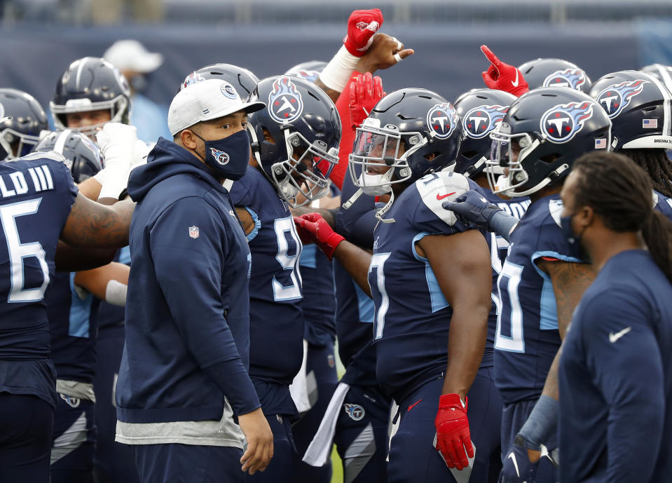 The Titans are reportedly being fined for violations of the NFL's COVID-19 protocols that may have contributed to their early-season team-wide outbreak. (Photo by Frederick Breedon/Getty Images)