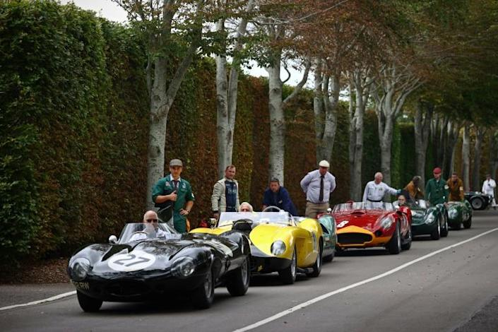 Historic racing events in Britain and on the European mainland have seen a dramatic drop in UK classic vehicle owners and teams competing (AFP/ADRIAN DENNIS)