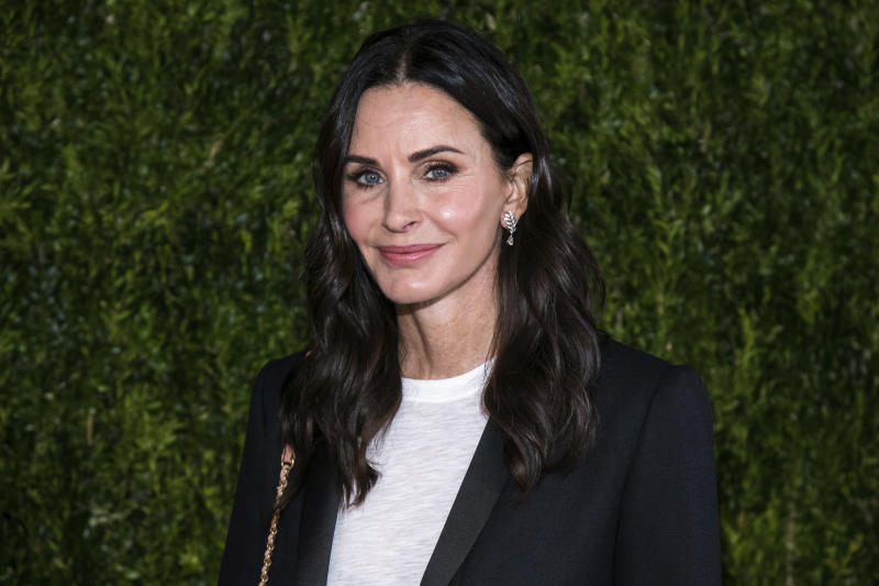 Courteney Cox attends Through Her Lens: The Tribeca Chanel Women's Filmmaker Program Luncheon at Locanda Verde on Tuesday, Oct. 16, 2018, in New York. (Photo by Charles Sykes/Invision/AP)