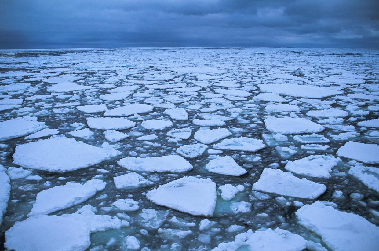 Floating drifting ice floe forming around the Antarctic continent. (Photo: Philippe Bourseiller/Getty Images)
