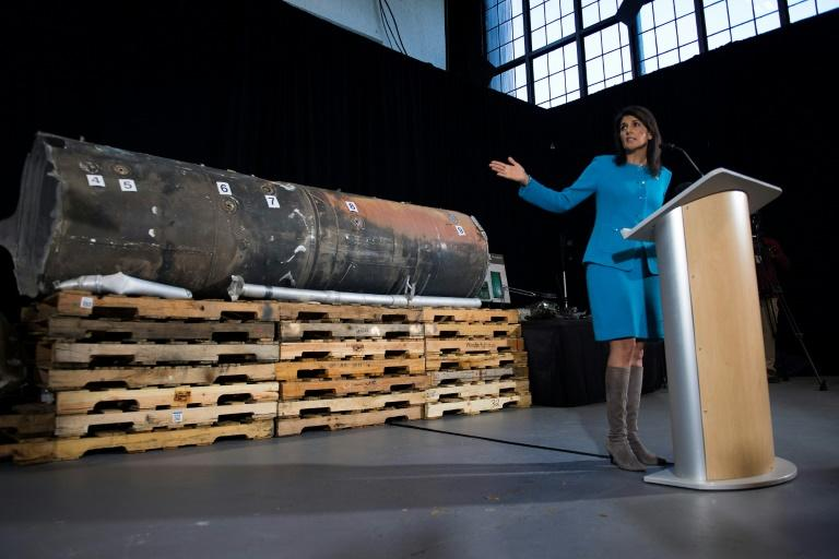 Nikki Haley says a ballistic missile fired by Huthi militants at Saudi Arabia last month had been made in Iran
