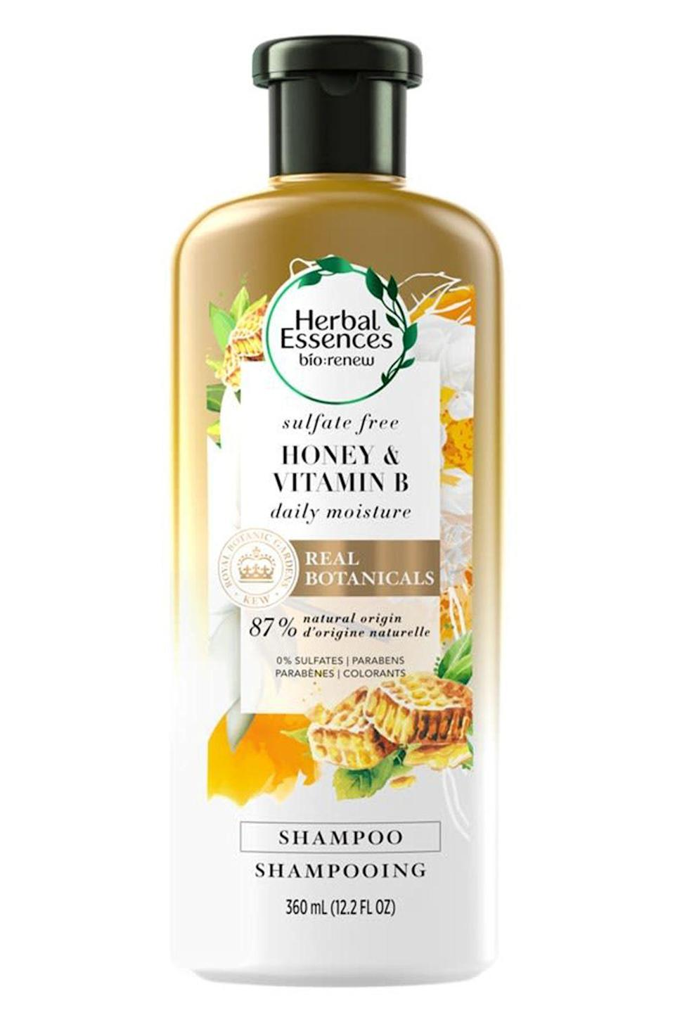 """<p><strong>Herbal Essences</strong></p><p>target.com</p><p><strong>$5.99</strong></p><p><a href=""""https://www.target.com/p/herbal-essences-bio-renew-honey-38-vitamin-b-conditioner-13-5-fl-oz/-/A-75563370"""" rel=""""nofollow noopener"""" target=""""_blank"""" data-ylk=""""slk:Shop Now"""" class=""""link rapid-noclick-resp"""">Shop Now</a></p><p>This <a href=""""https://www.cosmopolitan.com/style-beauty/beauty/g25019634/best-drugstore-shampoo-brands/"""" rel=""""nofollow noopener"""" target=""""_blank"""" data-ylk=""""slk:drugstore shampoo"""" class=""""link rapid-noclick-resp"""">drugstore shampoo</a> for damaged hair is <strong>l</strong><strong>oaded with moisturizing honey and all-natural botanicals</strong> to make your hair feel soft and smooth without having to use a ton of styling products. Plus, it's <a href=""""https://www.ewg.org/?gclid=CjwKCAiA8qLvBRAbEiwAE_ZzPY4nArPevdCJ6GcrBOwM23cvWzHWbSJxW9TQgc7m_z5qcrBKNXSxGRoCpFYQAvD_BwE"""" rel=""""nofollow noopener"""" target=""""_blank"""" data-ylk=""""slk:EWG-verified"""" class=""""link rapid-noclick-resp"""">EWG-verified</a> (basically, confirmed to be safe for you) and made without potentially sketchy ingredients like parabens, silicones, SLS, or mineral oil.</p>"""