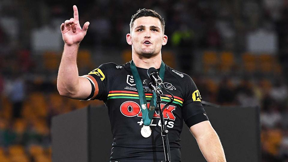 Fans were critical of the decision to hand Nathan Cleary (pictured) the Clive Churchill Medal for best on ground, despite overwhelming support. (Getty Images)