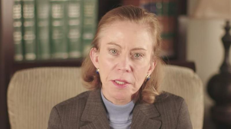 A clip from a video in which Kathleen Hartnett White claims there are benefits to increased carbon dioxide in the atmosphere.
