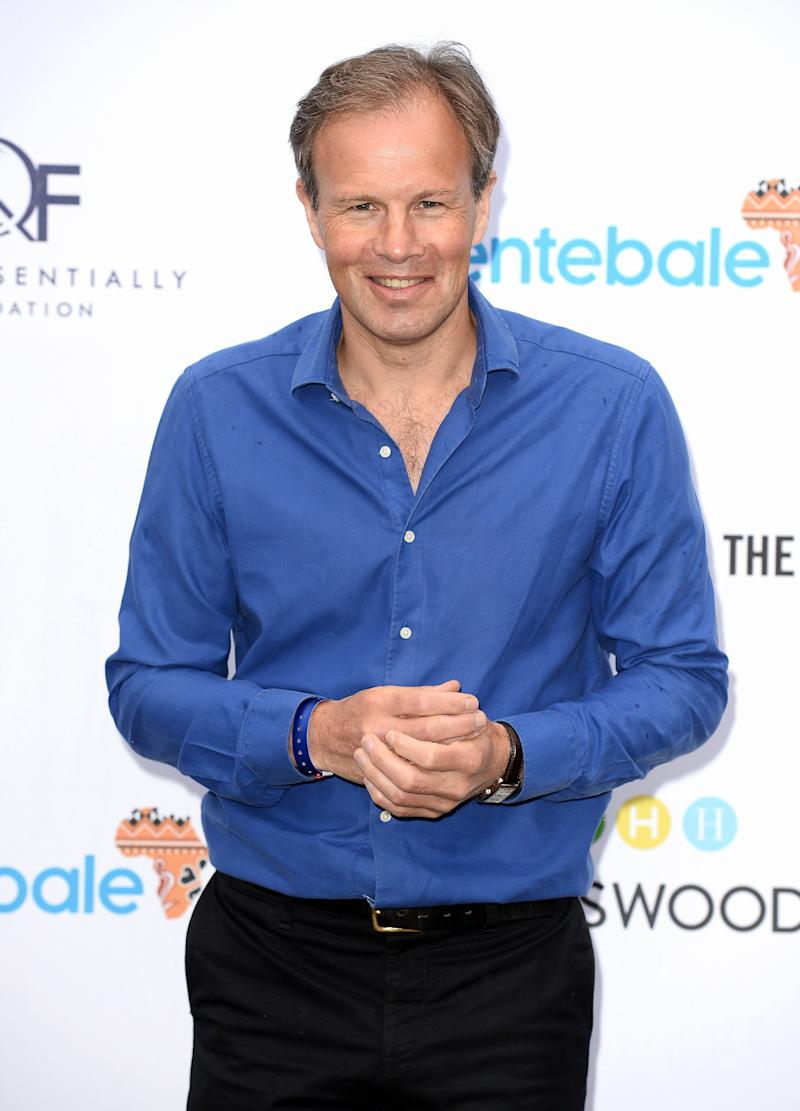 British television newsreader Tom Bradby poses for photographers as he arrives to attend the Sentebale Concert at Kensington Palace in central London on June 28, 2016 in London. Prince Harry will be joined by co-founding Patron Prince Seeiso of Lesotho to watch the concert and will deliver a speech on stage during the evening. The event will raise funds to support Sentebale's work helping vulnerable young people in Lesotho and Botswana. / AFP / POOL / Jeff Spicer (Photo credit should read JEFF SPICER/AFP via Getty Images)