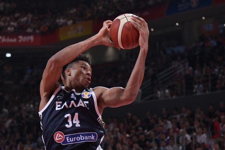 NBA MVP Giannis Antetokounmpo (C) was unable to save Greece as holders the United States reached the Basketball World Cup quarter-finals with a 69-53 win