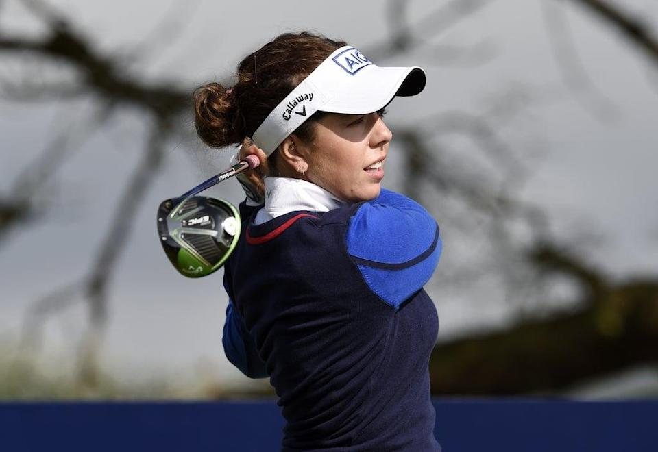England's Georgia Hall is chasing a second AIG Women's Open title at Carnoustie (Ian Rutherford/PA) (PA Wire)