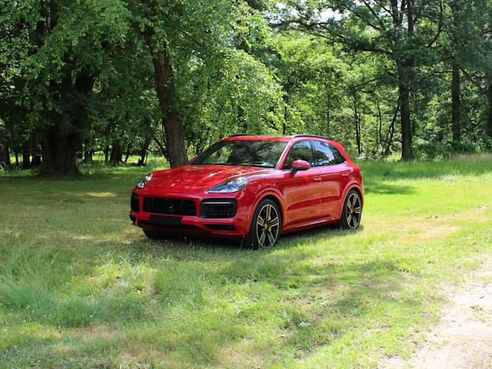 The Porsche Cayenne GTS is a high-performance choice for families hitting the road.