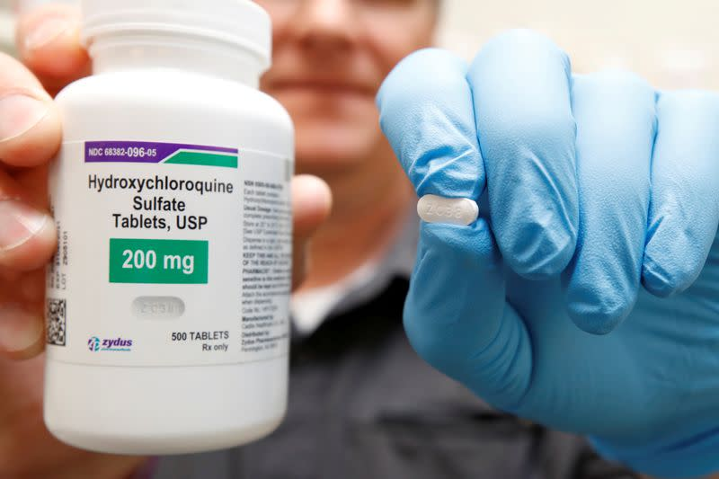 U.S. halts test of Trump-touted hydroxychloroquine for COVID-19 patients
