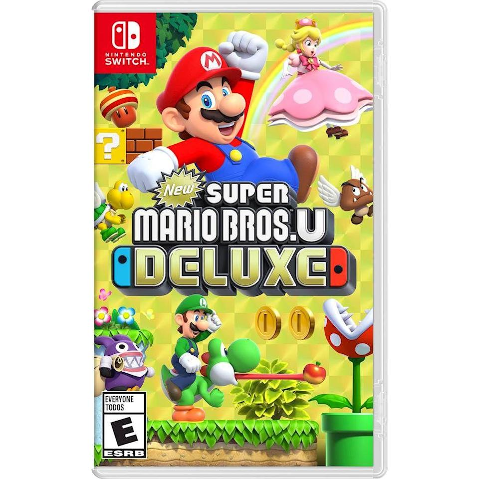 """<p><strong>Nintendo</strong></p><p>bestbuy.com</p><p><strong>$59.99</strong></p><p><a href=""""https://go.redirectingat.com?id=74968X1596630&url=https%3A%2F%2Fwww.bestbuy.com%2Fsite%2Fnew-super-mario-bros-u-deluxe-nintendo-switch%2F6311892.p%3FskuId%3D6311892&sref=https%3A%2F%2Fwww.cosmopolitan.com%2Flifestyle%2Fg5199%2Flast-minute-gifts%2F"""" rel=""""nofollow noopener"""" target=""""_blank"""" data-ylk=""""slk:Shop Now"""" class=""""link rapid-noclick-resp"""">Shop Now</a></p><p>He's all about his Nintendo Switch, so a new Super Mario Party game will be his newest obsession.</p>"""