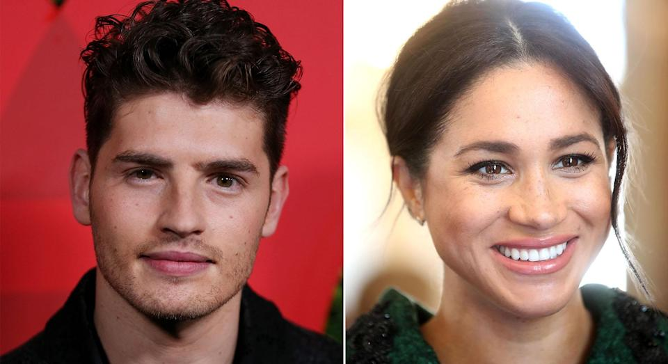 Gregg Sulkin and Meghan starred in the 2015 crime film Anti-Social together [Photos: Getty]