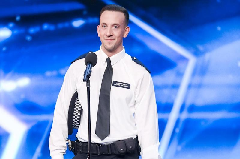 Snake hips: PC Dan Graham on the Britain's Got Talent stage: ITV/Thames/Syco