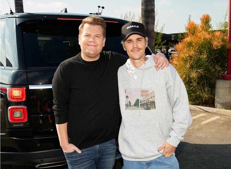James Corden and [ent-hotlink id=