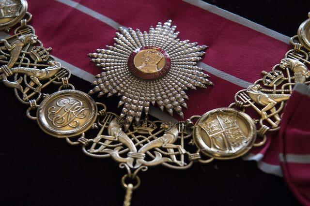 The British Empire Breast Star and Badge and the British Empire collar