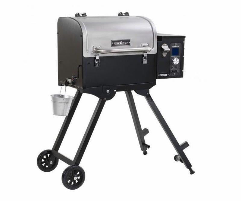 """<p><strong>Camp Chef</strong></p><p>walmart.com</p><p><strong>$399.00</strong></p><p><a href=""""https://go.redirectingat.com?id=74968X1596630&url=https%3A%2F%2Fwww.walmart.com%2Fip%2F186080028&sref=https%3A%2F%2Fwww.popularmechanics.com%2Fadventure%2Foutdoor-gear%2Fg35567198%2Fhunting-gear%2F"""" rel=""""nofollow noopener"""" target=""""_blank"""" data-ylk=""""slk:Buy Now"""" class=""""link rapid-noclick-resp"""">Buy Now</a></p><p>Back at camp, turn even the toughest, gamiest-tasting pieces of wild <strong>game</strong> (looking at you, turkey legs)</p><p><a href=""""https://www.popularmechanics.com/home/food-drink/a28801317/bbq-smokers-and-grills/"""" rel=""""nofollow noopener"""" target=""""_blank"""" data-ylk=""""slk:Smokers"""" class=""""link rapid-noclick-resp"""">Smokers</a> can turn even the toughest, gamiest-tasting pieces of wild <strong>game[[rep]]</strong> (looking at you, turkey legs) into a delicacy. The portable Camp Chef Pursuit will get you in the <strong>pellet-smoker game[[lots of reps. we've got """"smoke/r"""" and """"game"""" showing up a bunch.]]</strong> for fairly cheap. Roughly the size of an ice chest when collapsed, the Pursuit is also compact enough for <a href=""""https://www.popularmechanics.com/cars/trucks/how-to/g1467/0-gear-essentials-for-going-off-road/"""" rel=""""nofollow noopener"""" target=""""_blank"""" data-ylk=""""slk:overlanding excursions"""" class=""""link rapid-noclick-resp"""">overlanding excursions</a>, and the 501 square inches of cook space is nothing to scoff at.<strong>[[is this a grill the writer's saying is good for taking with you in your car or to camp to quickly cook up whatever you've hunted? if so, let's make that setup stronger, since as is this feels a little out of place on this list. but nothing a little clarification can't solve.]]</strong><br></p>"""