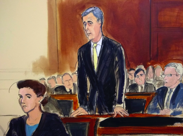 <em>Cohen pleaded guilty to charges including campaign finance fraud (AP)</em>
