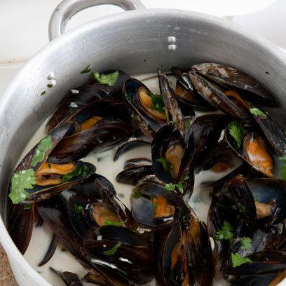 Mussels in Coriander, Ginger, Garlic and Coconut: Recipes: Food