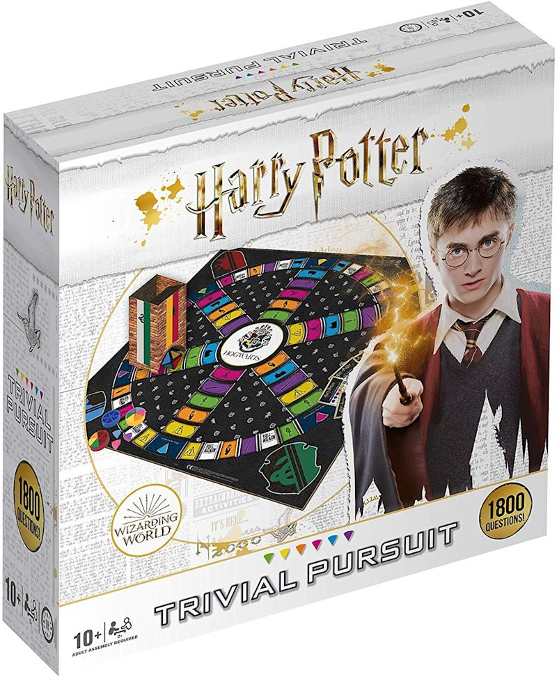 """<a href=""""https://amzn.to/2LpyJFC"""" target=""""_blank"""" rel=""""noopener noreferrer"""">Harry Potter Ultimate Trivial Pursuit, Amazon,</a> &pound;29.95 (Photo: Huffington Post UK )"""