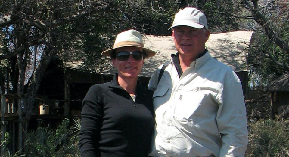 Patrick, 64, and Brigitte Fourgeaud, 63 were savaged by a lion during a safari trip in Tanzania, Africa. (SWNS)