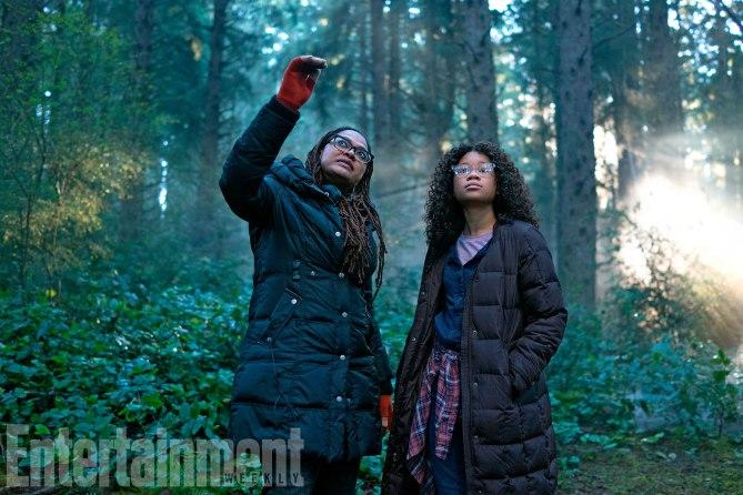 Ava DuVernay directing Storm Reid in 'A Wrinkle in Time' (credit: Entertainment Weekly, Disney)